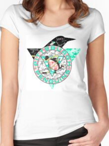 PENGUINS WHITE Women's Fitted Scoop T-Shirt