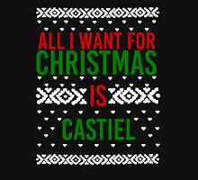 All I Want For Christmas (Castiel) Women's Fitted Scoop T-Shirt