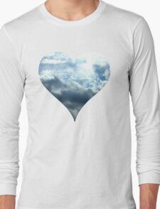 Blue Sky Heart Long Sleeve T-Shirt
