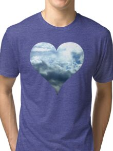 Blue Sky Heart Tri-blend T-Shirt