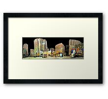 New-York Rockfeller Plaza  (Comic Look) Framed Print