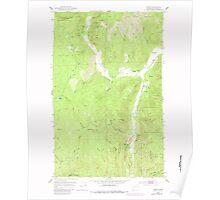 USGS Topo Map Washington State WA Spirit 243912 1952 24000 Poster
