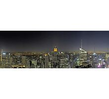 New-York Top of the Rock Skyline Overview (Sketch) Photographic Print