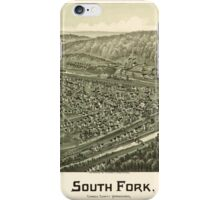 Panoramic Maps South Fork Cambria County Pennsylvania 1900 iPhone Case/Skin
