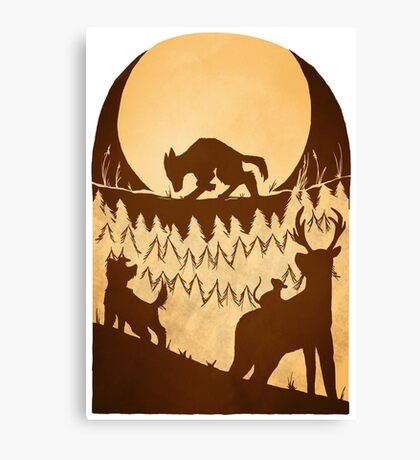 Full Moon in the Forbidden Forest Canvas Print