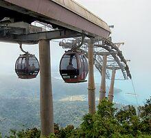 Cable cars - Top station Gunung Machincang, Langkawi by Glaspark