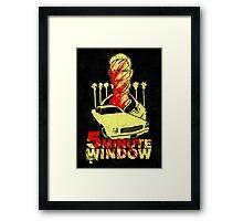 5 minute window Framed Print