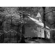 church in smokies Photographic Print