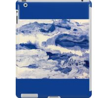 Ocean Waves on Textured Paper Abstract iPad Case/Skin
