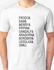 The Fellowship (Black text) T-Shirt