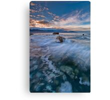 Kaikoura Driftline Blues Canvas Print
