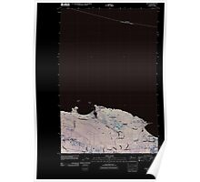 USGS Topo Map Washington State joyce wa tnm Inverted Poster