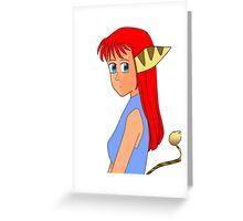 Anime Lombax Girl Greeting Card