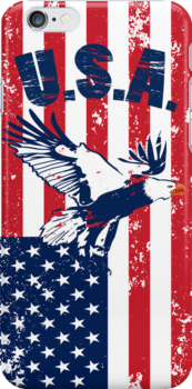 American Patriotic Eagle iPod / iPhone 5 Case / iPhone 4 Case  by CroDesign