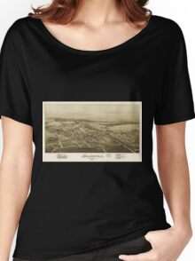 Panoramic Maps Sellersville Bucks County Pa 1894 Women's Relaxed Fit T-Shirt