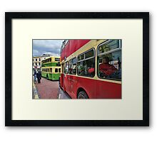 Bus Queue Framed Print