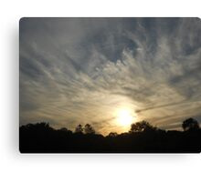 Cool Clouds at Sunset Canvas Print