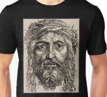 Jesus with crown of thorns Unisex T-Shirt