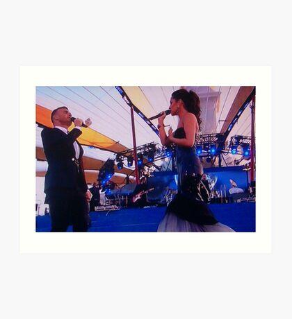 Gary Barlow and Cheryl Cole Art Print