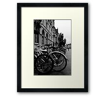 Broad Street, Oxford - Bicycles Framed Print