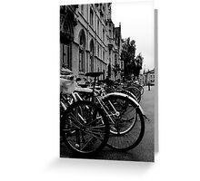 Broad Street, Oxford - Bicycles Greeting Card