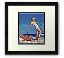 The Marilyn Pin-up Framed Print
