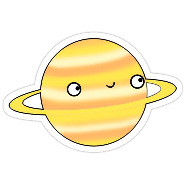 Saturn - Sticker by Sarah Crosby