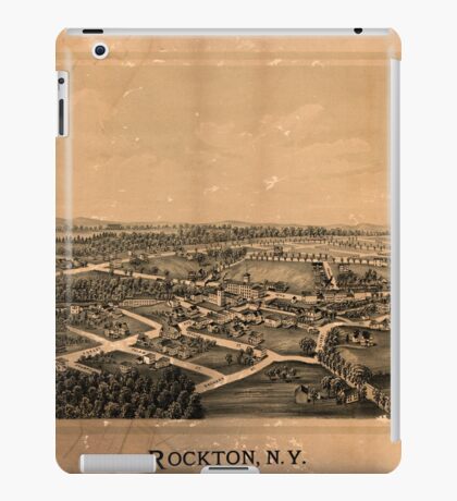 Panoramic Maps Rockton NY iPad Case/Skin