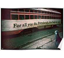 Vintage Pittsburgh Trolly Poster