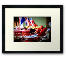 Jubilee afternoon tea Framed Print