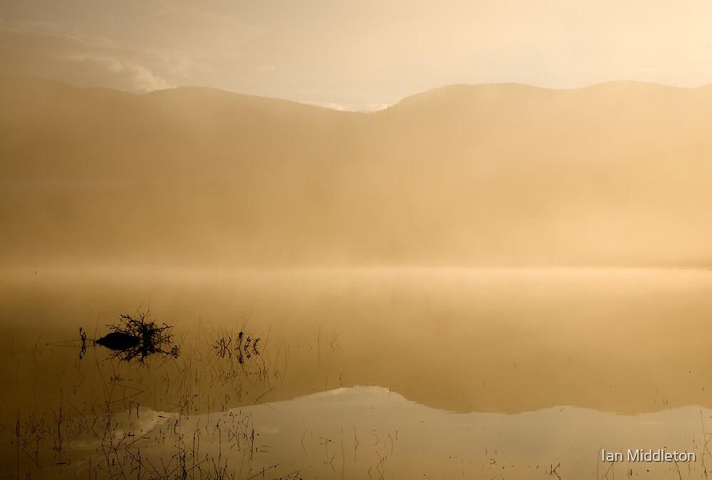Misty reflections at sunrise by Ian Middleton