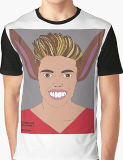 Justin Bieber vs Pinocchio . Illustrated by Peter Marsh 2015©. Graphic T-Shirt