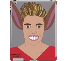 Justin Bieber vs Pinocchio . Illustrated by Peter Marsh 2015©. iPad Case/Skin