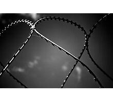 Black n white barbwire Photographic Print