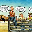 Cowboys Wild Ride by WildestArt