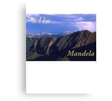 Ella Fitzgerald and Nelson Mandela Canvas Print