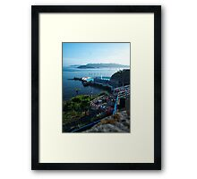 Tinside Pool and The Terrance Cafe Framed Print