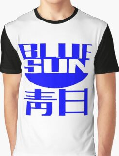 Blue Sun Corporate Logo Graphic T-Shirt