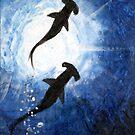Duo Hammerhead Shark by dvampyrelestat