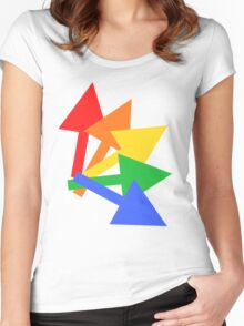 Rainbow arrows Women's Fitted Scoop T-Shirt