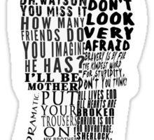Mycroft Holmes Typography Art Sticker