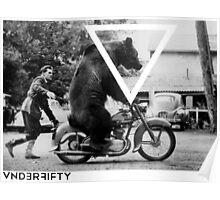 VNDERFIFTY BEAR ON A BIKE Poster