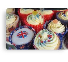 Diamond Jubilee Cup Cakes Canvas Print