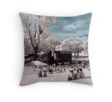 A stage in the park! Throw Pillow