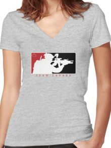 Team Canada Women's Fitted V-Neck T-Shirt