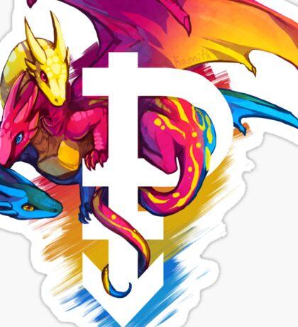 Pan Pride Dragon Sticker
