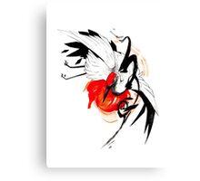 CRANE INKTOBER Canvas Print
