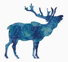 Painted Blue Moose by austinwasinger