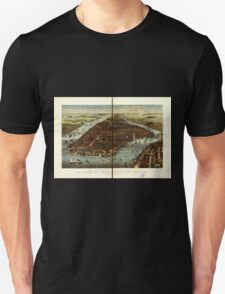 Panoramic Maps The city of New York Unisex T-Shirt