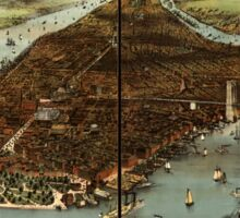 Panoramic Maps The city of New York Sticker